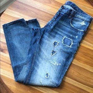 PRPS Distressed Tapered Leg Premium Jeans 38x32